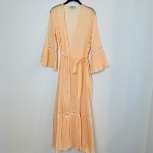 Vintage Vassarette Peach Robe Medium